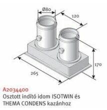 Saunier Duval na 80/80 pps/pps szétválasztó indító idom kondenzációs kazánhoz