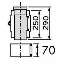 Vaillant na 80/125 alu/alu egyenes ellenőrző idom