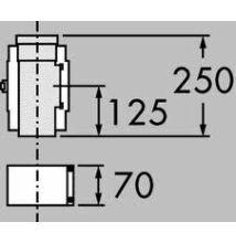 Vaillant na 80/125 pps/alu egyenes ellenőrző idom
