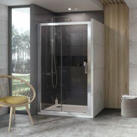 Ravak 10DP2-110 Kétrészes zuhanyajtó szatén kerettel, transparent edzett biztons