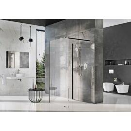 Ravak Walk-In Corner 120/90 két fix üvegfal fekete kerettel, transparent edzett