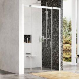 Ravak Matrix MSD4-160 Négyrészes, elcsúsztatható zuhanyajtó, fehér kerettel, tra