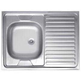 Ferro Szekrényre építhető egymedencés csepptálcás jobbos mosogató