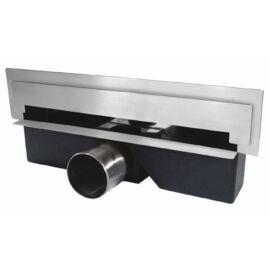 Ferro WALL SLIM rozsdamentes fali zuhanyfolyóka polírozott ráccsal 30 cm