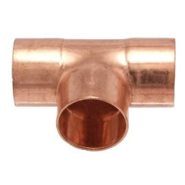 IBP 5130 forrasztható réz egál T-idom, 28mm