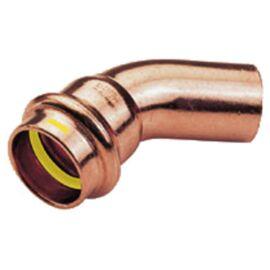 IBP PG5040 réz press ív, gázra, 45°, 1 tokos, 42mm