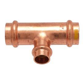 IBP PG5130R réz press szűkített T-idom, gázra, 28-22-28mm