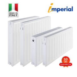GENTECH - IMPERIÁL UNI 33VK600x800 (olasz) beépített szelepes lapradiátor 10 év
