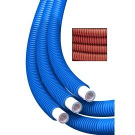 RBM Ötrétegű műanyag cső bordázott polipropilén védőcsőben 16x2 - piros