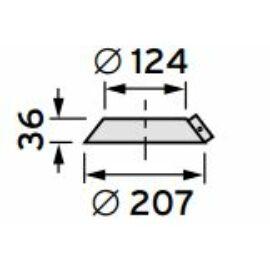 Vaillant na 125 acél esővédő gallér