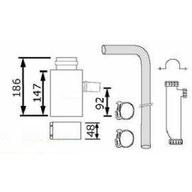 Vaillant na 60/100 alu/alu kondenzvíz elvezető készlet