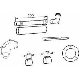 Vaillant na 60/100 pps/alu alapszett kéményaknában történő elvezetés esetén
