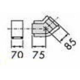 Vaillant na 80/125 alu/alu 45° könyök idom