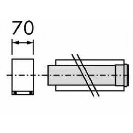 Vaillant na 80/125 pps/alu 2 m egyenes cső