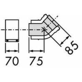 Vaillant na 80/125 pps/alu 45° könyök idom, 2 db/csomag