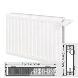 Vonova 22K600x2800 kompakt radiátor (6127 W)