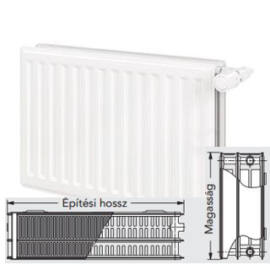 Vonova 33KV400x2200 szelepes radiátor - balos bekötés  (5455 W)