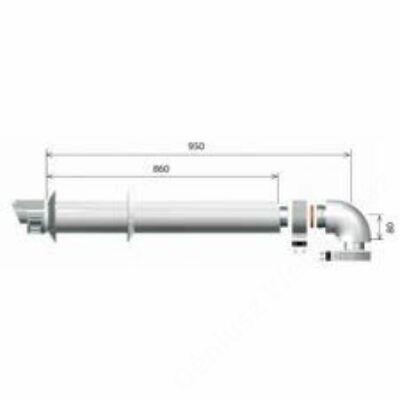 Ariston 60/100 Pps/Alu Vízszintes alapszett, L= 1 m