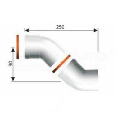 Ariston 80 Pps 45° könyök, 2 db/csomag