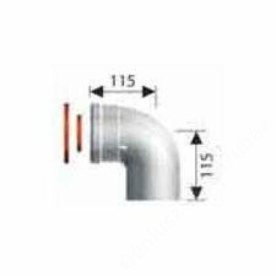 Ariston 80/125 Pps/Alu 90° koncentrikus könyök