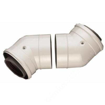 Bosch AZB 608/1 na 80/125 pps/alu 45°-os könyök idom, 2 db/csomag