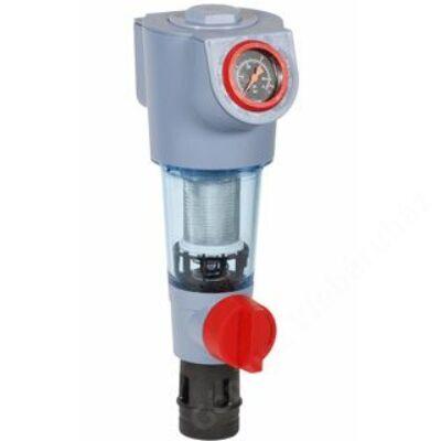 Honeywell Öblíthető ivóvíz szűrő, forg.csatl, PN16, hollandival, rm 100µm, 30°C,