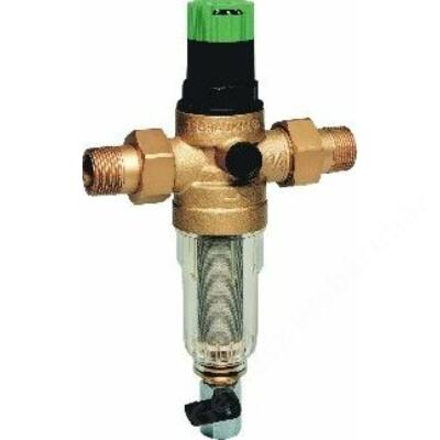 """Honeywell Öblíthető vízszűrő, nyomáscsökkentő, PN16, hollandi, 100µm, 40°C, 1""""K"""