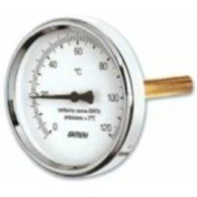 SIT precíziós hőmérő hátsó csatlakozással 63mm/100mm 120°C