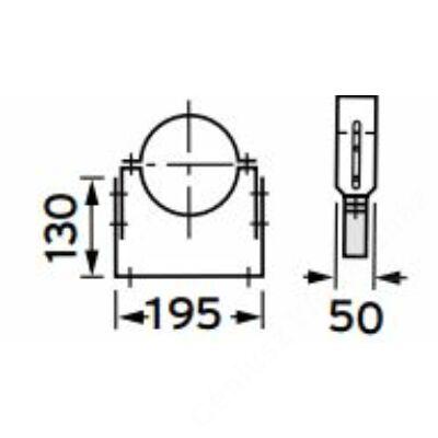 Vaillant állítható tartóbilincs, 50-90 mm