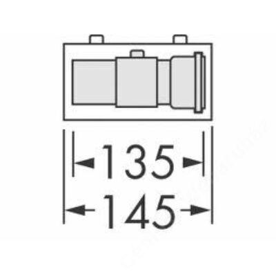 Vaillant na 60/100 alu/alu egyenes ellenőrző idom