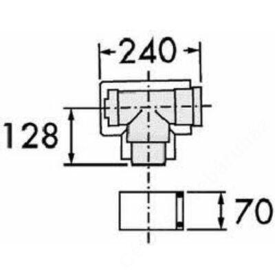 AILLANT koncentrikus könyök tisztítónyílással, PPs/Alu, fehér, D80/125