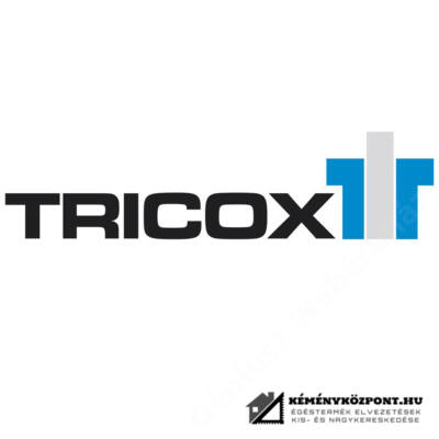 TRICOX PABK60 PPs/Alu bekötő könyök, tartó sínnel, 80/125mm