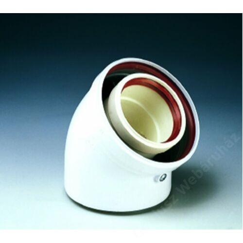 Ferroli 45° ív, 80-125 PVC-PPS