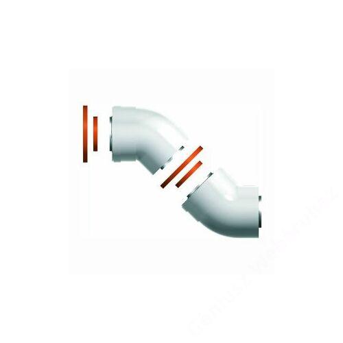 Ariston 60/100 Pps/Alu 45° koncentrikus ív, 2 db/csomag