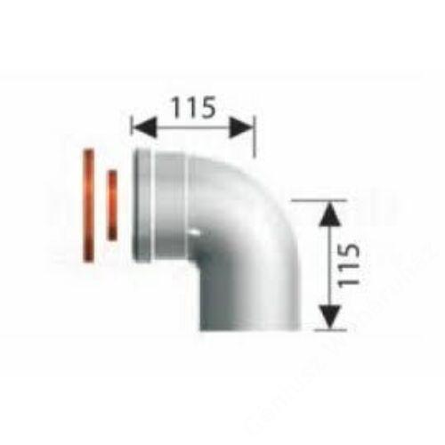 Ariston 60/100 Pps/Alu 90° koncentrikus könyök