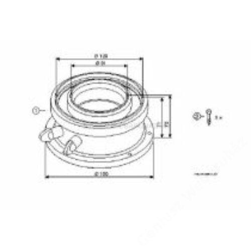 Bosch AZB 931, 80/125 Pps/Alu indító idom kondenzációs kazánhoz /FC-CA80 új/