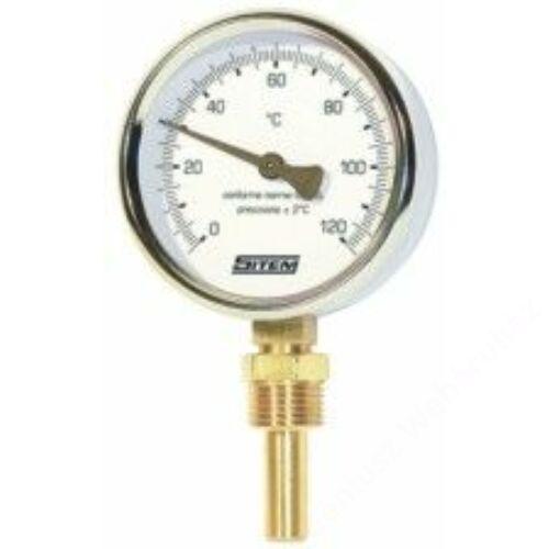 SIT precíziós hőmérő alsó csatlakozással 80mm/100mm 120°C