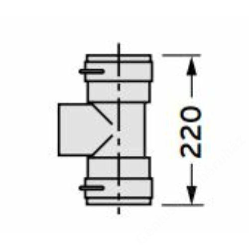 Vaillant Csatlakozó T-idom túlnyomásos égéstermék elvezetéshez (O80/125 mm - PP)