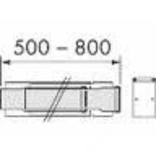 Vaillant na 60/100 alu/alu teleszkópos egyenes cső