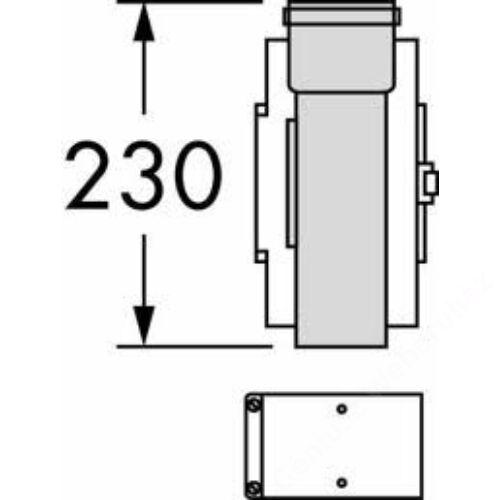 Vaillant na 60/100 pps/alu tisztítónyilással ellátott elem, egyenes ellenőrző id