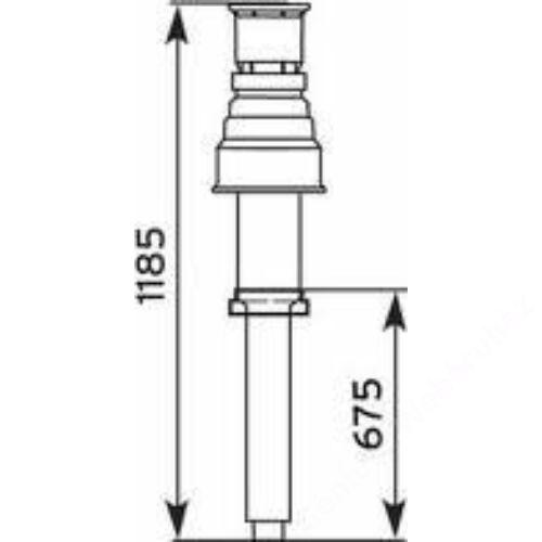 Vaillant na 80/125 alu/alu tetőátvezető idom