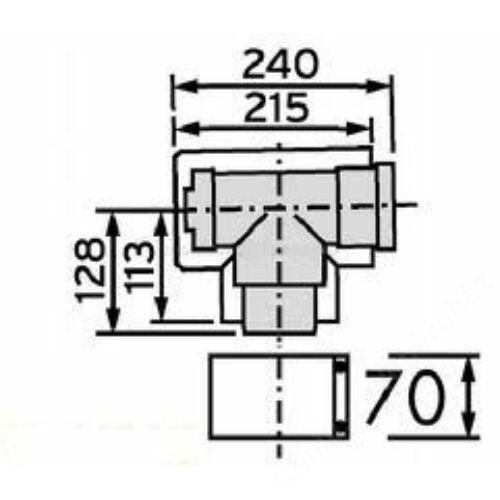 Vaillant na 80/125 alu/alu tisztító T idom
