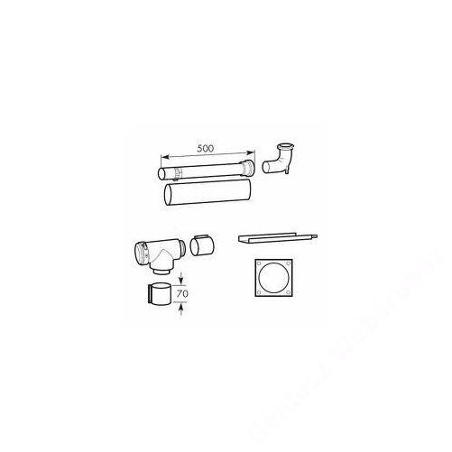 Vaillant na 80/125 pps/alu alapszett kéményaknában történő elvezetés esetén